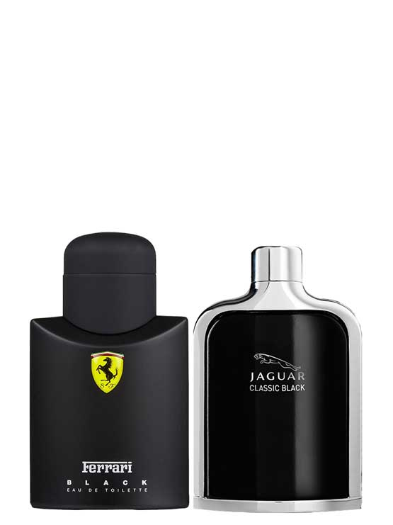 Bundle for Men: Scuderia Ferrari Black for Men, edT 125ml by Ferrari + Jaguar Classic Black for Men, edT 100ml by Jaguar