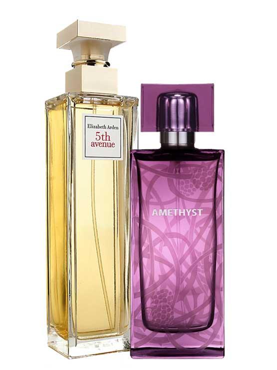 Bundle for Women: Amethyst for Women, edP 100ml by Lalique + 5th Avenue for Women, edP 125ml by Elizabeth Arden