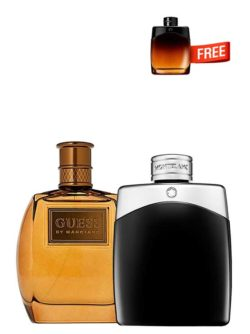 <p>Bundle for Men: </p><ul><li>Marciano for Men, edT 100ml by Guess +</li><li> Legend for Men, edT 100ml by Mont Blanc +</li><li> Legend Night Miniature for Men, edP 4.5ml by Mont Blanc Free!</li></ul>