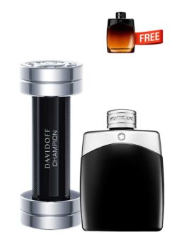 <p>Bundle for Men: </p><ul><li>Champion for Men, edT 90ml by Davidoff +</li><li> Legend for Men, edT 100ml by Mont Blanc +</li><li> Legend Night Miniature for Men, edP 4.5ml by Mont Blanc Free!</li></ul>