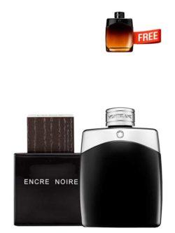 <p>Bundle for Men: </p><ul><li>Encre Noire for Men, edT 100ml by Lalique +</li><li> Legend for Men, edT 100ml by Mont Blanc +</li><li> Legend Night Miniature for Men, edP 4.5ml by Mont Blanc Free!</li></ul>