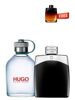 <p>Bundle for Men: </p><ul><li>Hugo MAN Green for Men, edT 125ml by Hugo Boss +</li><li> Legend for Men, edT 100ml by Mont Blanc +</li><li> Legend Night Miniature for Men, edP 4.5ml by Mont Blanc Free!</li></ul>
