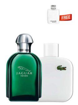 <p>Bundle for Men: </p><ul><li>Jaguar Green for Men, edT 100ml by Jaguar +</li><li> Eau de Lacoste Blanc Pure (White) for Men, edT 100ml by Lacoste +</li><li> Legend Spirit Miniature for Men, edT 4.5ml by Mont Blanc Free!</li></ul>
