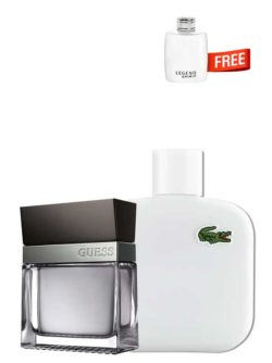 <p>Bundle for Men: </p><ul><li>Seductive for Men, edT 100ml by Guess +</li><li> Eau de Lacoste Blanc Pure (White) for Men, edT 100ml by Lacoste +</li><li> Legend Spirit Miniature for Men, edT 4.5ml by Mont Blanc Free!</li></ul>