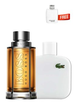 <p>Bundle for Men: </p><ul><li>The Scent for Men, edT 100ml by Hugo Boss +</li><li> Eau de Lacoste Blanc Pure (White) for Men, edT 100ml by Lacoste +</li><li> Legend Spirit Miniature for Men, edT 4.5ml by Mont Blanc Free!</li></ul>