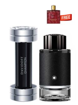 <p>Bundle for Men: </p><ul><li>Champion for Men, edT 90ml by Davidoff +</li><li> Explorer for Men, edP 100ml by Mont Blanc +</li><li> Eros Flame Miniature for Men, edP 5ml by Versace Free!</li></ul>