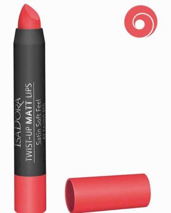 Raving Red 62 - Twist-Up Matt Lips Satin Soft Feel Lipstick by IsaDora
