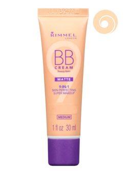 002 Medium - BB Cream Beauty Balm Matte 9-IN-1 Skin Perfecting Super Makeup SPF 15 by Rimmel