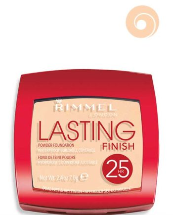 002 Soft Beige - Lasting Finish Powder Foundation Waterproof Buildable Coverage 25HR Dual Wet & Dry Finish by Rimmel