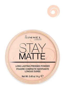 002 Pink Blossom - Stay Matte Long Lasting Pressed Powder (Round Box) by Rimmel