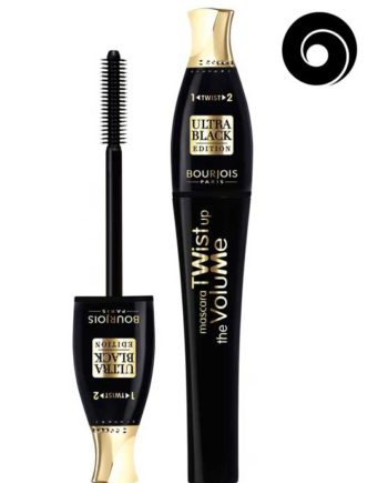 Ultra Black 52 - Twist Up The Volume Mascara 2-in-1 Brush Ultra Black Edition by Bourjois