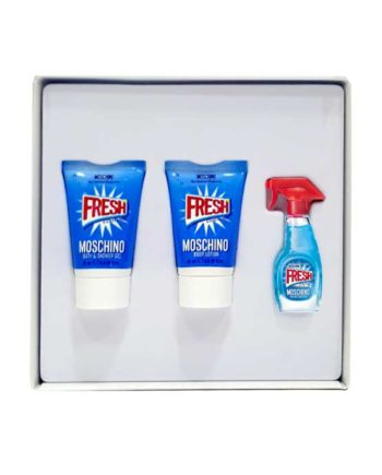 Fresh Couture Miniature Gift Set for Women (edT 5ml + Bath and Shower Gel + Body Lotion) by Moschino