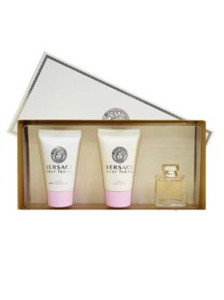 Versace pour Femme Miniature Gift Set for Women (edP 5ml + Luxury Bath and Shower Gel + Luxury Body Lotion) by Versace