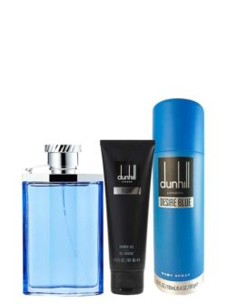 Desire Blue Gift Set for Men (edT 100ml + Shower Gel + Body Spray) by Dunhill