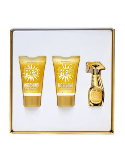 Fresh Couture Gold Miniature Gift Set for Women (edP 5ml + Bath and Shower Gel 25ml + Body Lotion 25ml) by Moschino