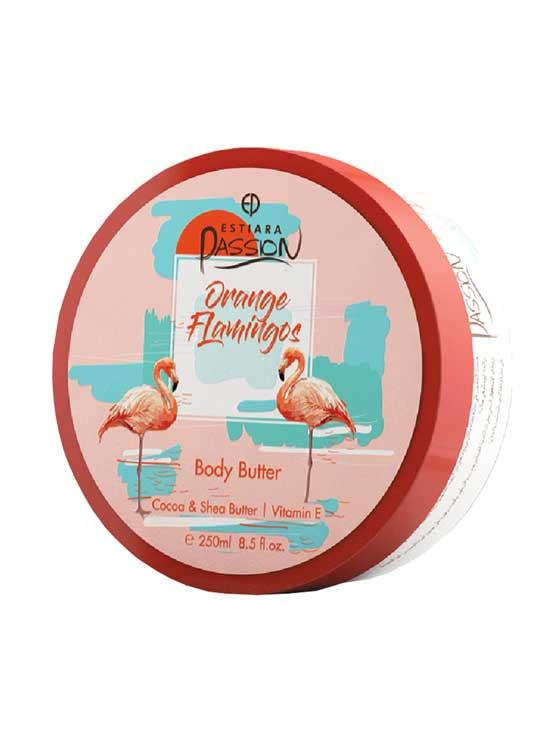 Orange Flamingos Body Butter Cocoa & Shea Butter with Vitamin E, 350ml by Estiara Passion