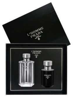 L'Homme Prada Milano Gift Set for Men (edT 100ml + Aftershave Balm 125ml) by Prada