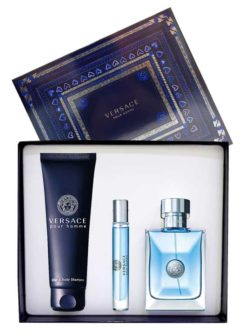 Versace pour Homme Gift Set for Men (edT 100ml + Hair and Body Shampoo 150ml + edT 10ml Travel Spray) by Versace